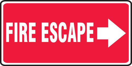 Fire Escape Sign Arrow Right