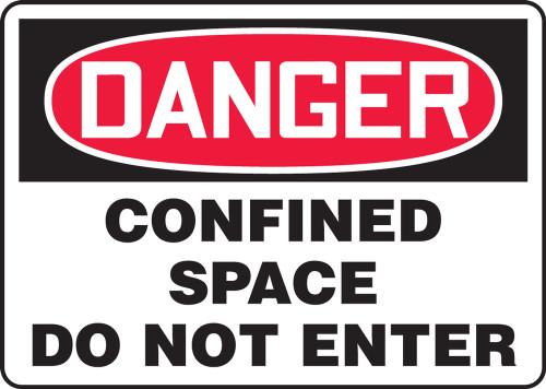 Danger - Confined Space Do Not Enter - Plastic - 14'' X 20''