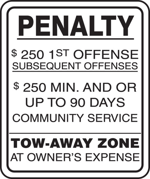 FRA162RA New Jersey Penalty Parking Sign