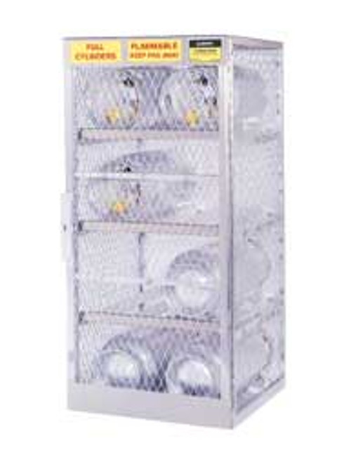 Justrite Cylinder Lockers 8 Cylinder Horizontal Locker