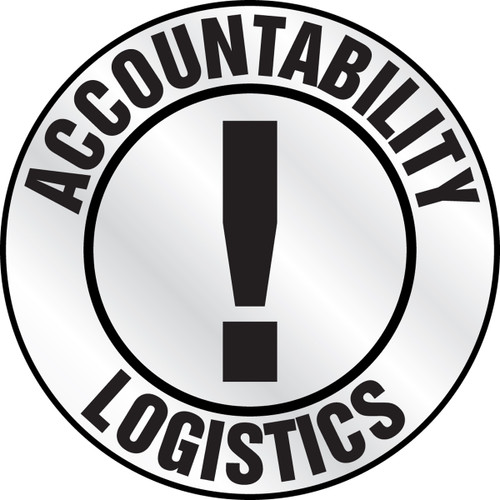 LHTL661 accountability logistics hard hat sticker