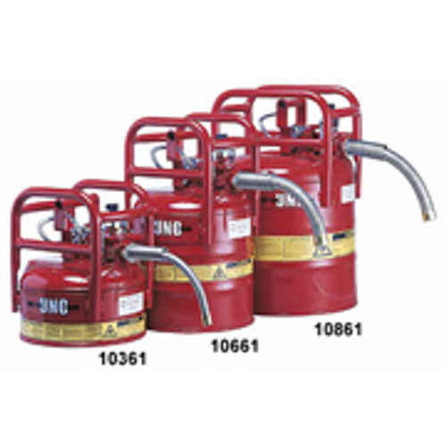 """D.O.T. Type II Safety Can- 5 Gallon w/ 5/8"""" hose- Red"""