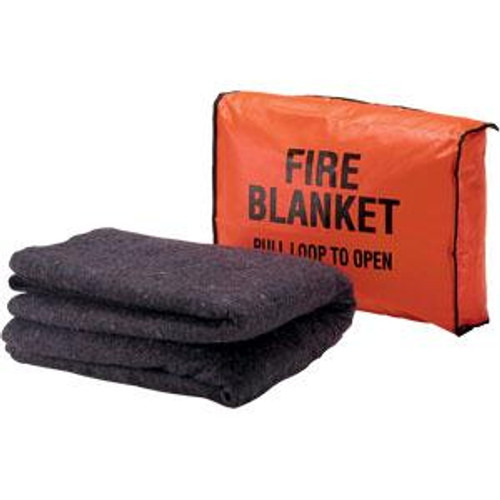 Wool Fire Blanket- with wall hanging bag SET