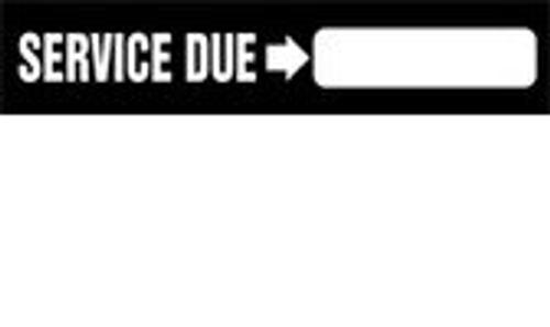 Service Due Sign-arrow