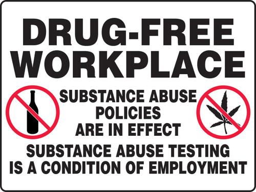 MADM504VA Drug free workplace sign