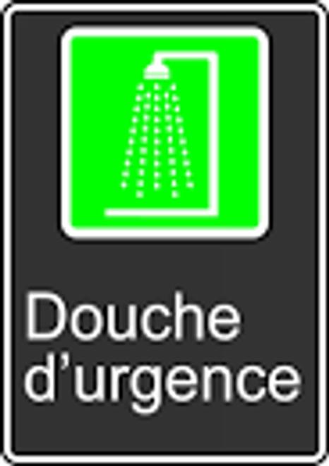Emergency Shower (Douche D'Urgence) - .040 Aluminum - 14'' X 10'' 2