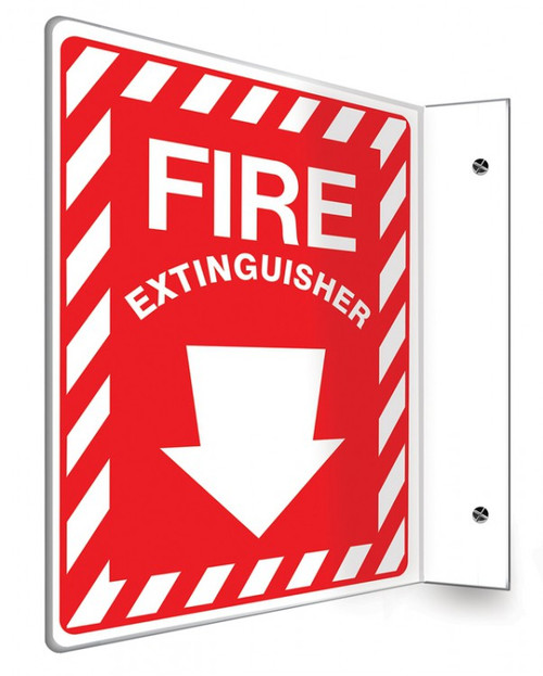 Fire Extinguisher Sign 90D