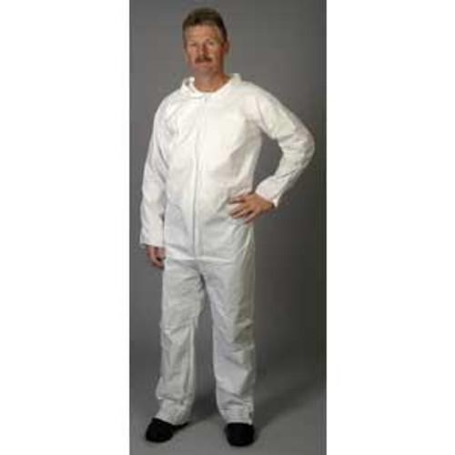 Disposable White Coveralls Zip Front 2XL-25/Case