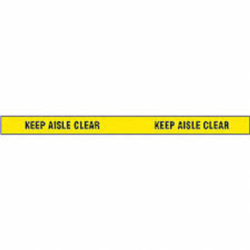 Keep Aisle Clear- Message Marking Tape