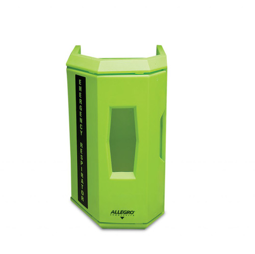 Allegro 4550 Hi-Viz Green Heavy Duty Emergency Respirator Wall Case