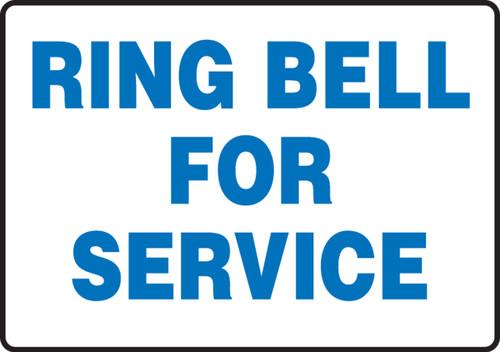 Ring Bell For Service - Dura-Fiberglass - 7'' X 10''