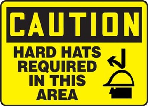Hard Hats Required (Casques De Protection Obligatoires) - Plastic - 14'' X 10'' 1