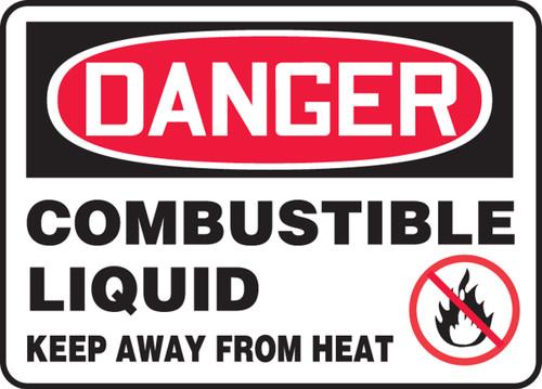 Danger - Combustible Liquid Keep Away From Heat