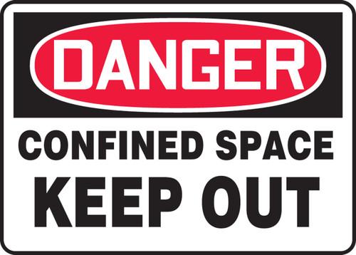 Danger - Confined Space Keep Out - Dura-Fiberglass - 7'' X 10''