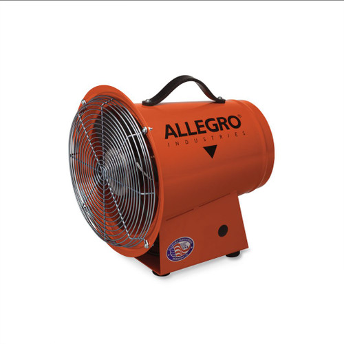 """Allegro 9506 8"""" Axial DC Metal Blower, 12V"""