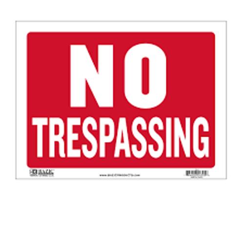 No Trespassing Private Road - Adhesive Vinyl - 12'' X 24''