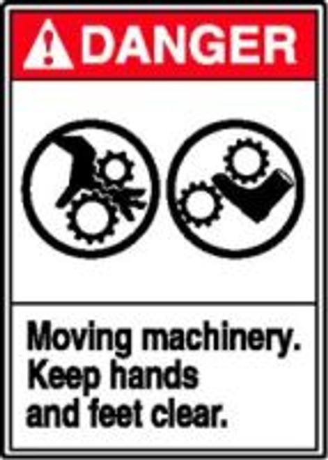 Moving Machinery Keep Hands And Feet Clear (w/graphic)