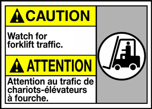 Caution Watch For Forklift Traffic (W/Graphic)