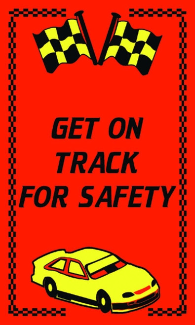 Message Floor Mat- Get On Track For Safety