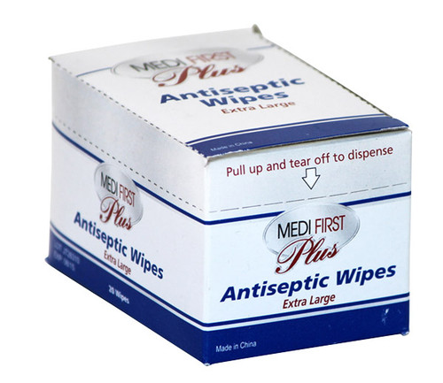 Antiseptic Wipes - Extra-Large - 20/box