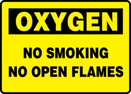 Oxygen No Smoking No Open Flames