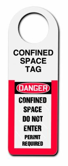 Danger Confined Space Do Not Enter Permit Required (tag Holder)