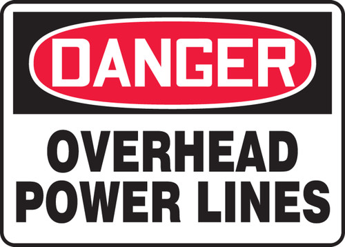 Danger - Overhead Power Lines - Aluma-Lite - 10'' X 14''