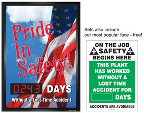 Pride in Safety Digi Day Changeable Face Electronic Scoreboard