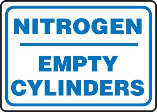 Nitrogen Empty Cylinders - Plastic - 10'' X 14''