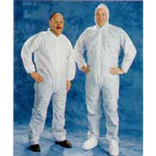 Disposable White Coveralls Hood & Boot  25/Case- Large