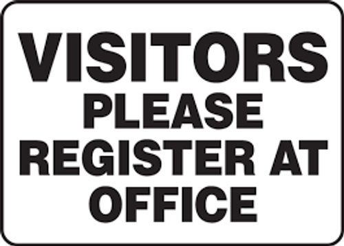 Visitors Please Register At Office - Re-Plastic - 7'' X 10''