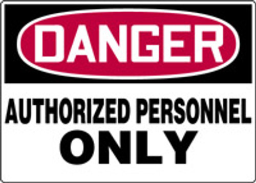 "Danger - Plastic - 10"" X 14"""