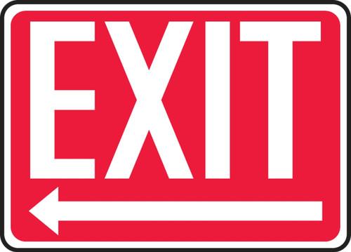 Exit (Arrow Left) - .040 Aluminum - 10'' X 14''