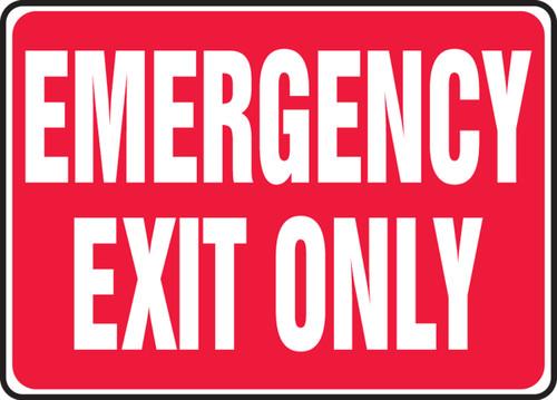 Emergency Exit Only - Aluma-Lite - 10'' X 14'' 2
