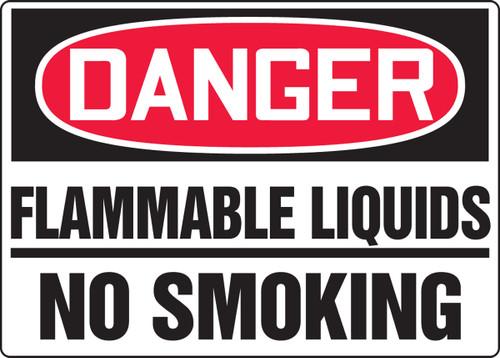 Danger - Flammable Liquids No Smoking - Adhesive Dura-Vinyl - 10'' X 14''