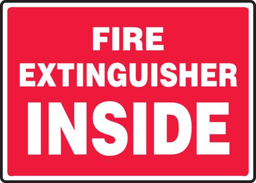Fire Extinguisher Inside - Adhesive Vinyl - 10'' X 14''