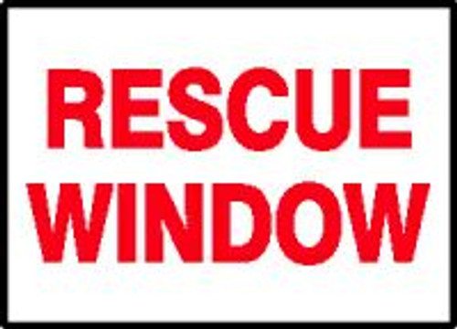 """Rescue Window Label- 3.5"""" X 5""""- Priced By The Each"""