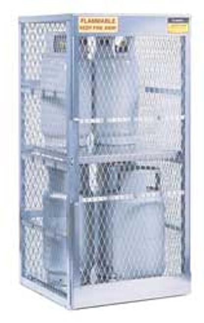 Justrite Cylinder Locker - 8 Cylinder Vertical Locker