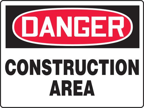 Danger Construction Area Sign MCRT100XL