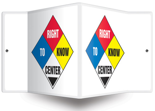 Right To Know Center Sign- Projection Sign