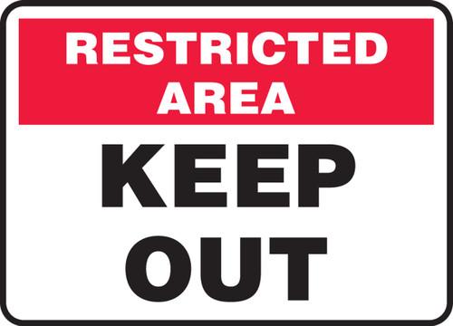 Keep Out - Aluma-Lite - 7'' X 10'' 1