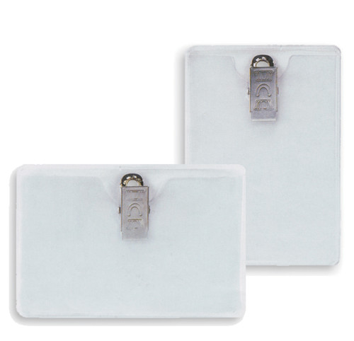 Id Badge W/ Clips - Clip On Badge Holders
