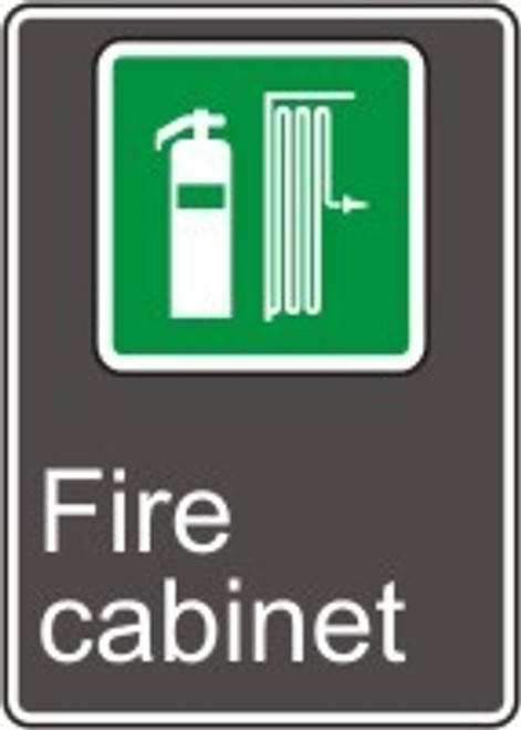Fire Cabinet (Cabinet D'Incendie) - Adhesive Vinyl - 14'' X 10'' 2