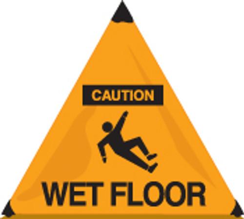 Caution Wet Floor Handy Cone Floor Sign