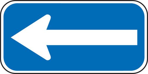 White/Blue Arrow Handicap Sign