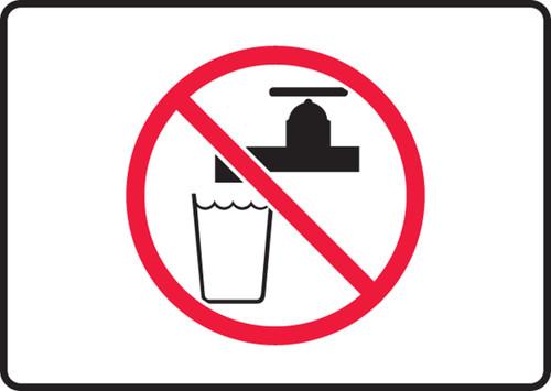 Unsafe To Drink Symbol - .040 Aluminum - 7'' X 10''