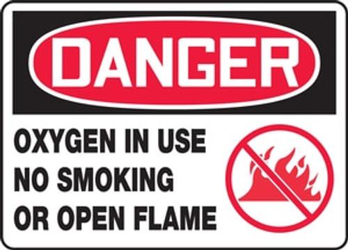 Danger - Propane No Smoking No Open Flames - Adhesive Dura-Vinyl - 10'' X 14''