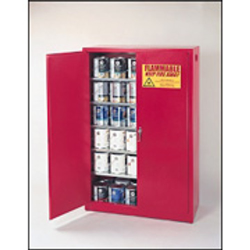 Eagle 60 Gallon Paint and Ink Safety Cabinet- Red- Manual Doors