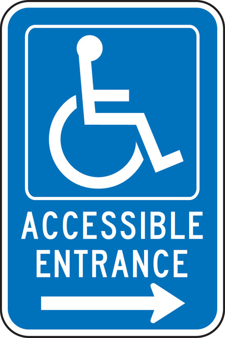 Accessible Entrance ----> (w/graphic)