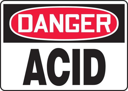 Danger - Acid - Dura-Fiberglass - 10'' X 14''